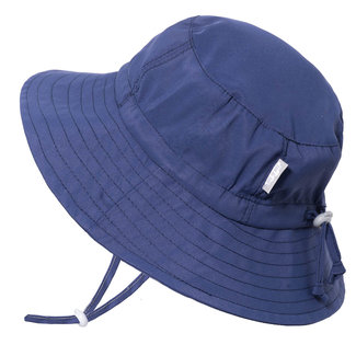 Jan & Jul Jan & Jul - Grow With Me Aqua Dry Bucket Sun Hat, Navy