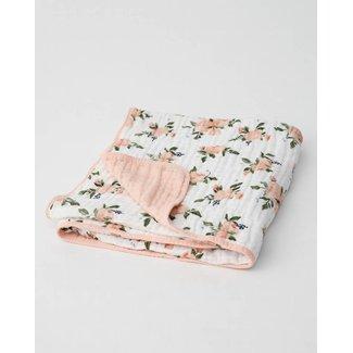 Little Unicorn Little Unicorn - Cotton Quilt, Watercolor Roses