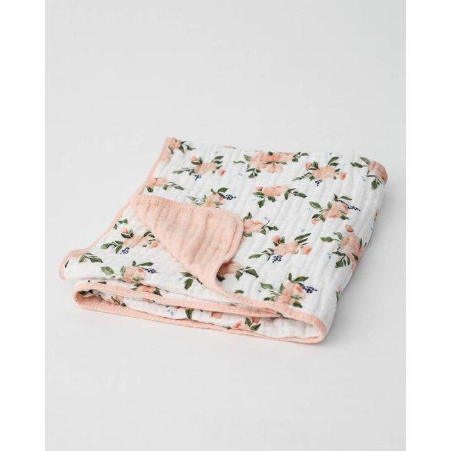 Little Unicorn Little Unicorn - Cotton Quilt, Rose Bouquet