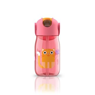 Zoku Zoku - Flip Straw Bottle, Pink