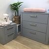 Natart Juvenile DEMO SALE - Nest Milano - 3 Drawer Dresser and Night Table, Elephant Grey