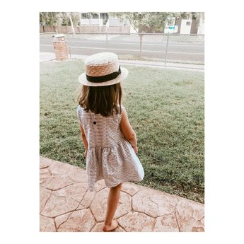 Fini. the label Fini. The Label - Straw Boater Hat, Child