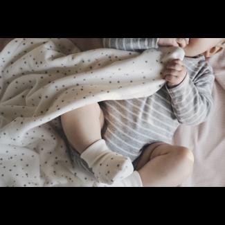 Bouton Jaune Bouton Jaune - 33 x 29'' Velvet Ratine Blanket, Stella Grey