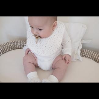 Bouton Jaune Bouton Jaune - Small Velvet Ratine Bib, Stella Coral, One Size