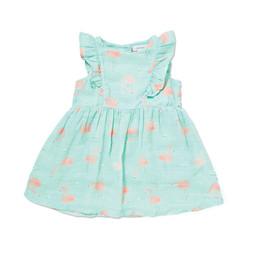 Angel Dear Angel Dear - Ruffle Dress, Flamingo