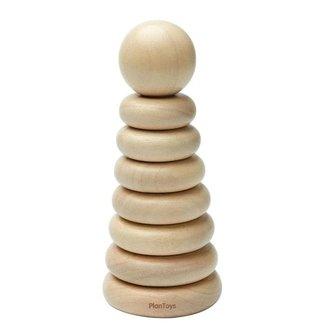 Plan toys Plan Toys - Jouet Mon Premier Anneau Empilable, Naturel