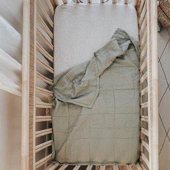 7PM Linen 7PM Linen - Couette et Tapis de Jeu en Lin, Sauge