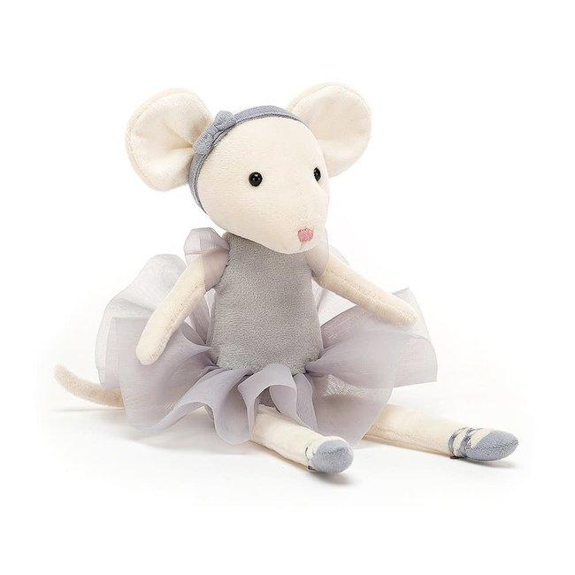 "Jellycat Jellycat - Pirouette Mouse, Pebble 11"""