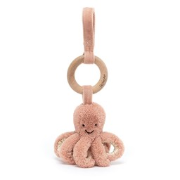 Jellycat Jellycat - Odell Octopus Wooden Ring Stroller Toy