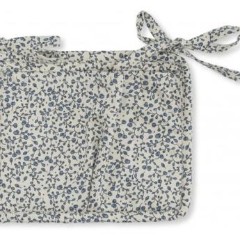 Konges Sløjd Konges Sløjd - Quilted Bed Pockets, Blue Blossom Mist