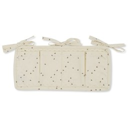 Konges Sløjd Konges Sløjd - Quilted Bed Pockets, Mille Marine Off White