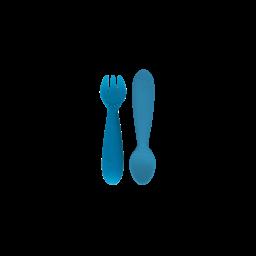 Ezpz EzPz - Set of 2 Silicone Utensils, Blue