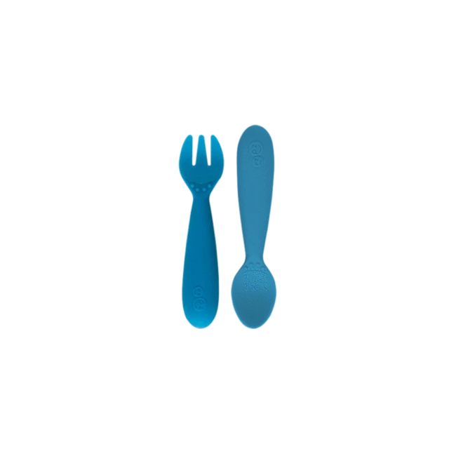 Ezpz EzPz - Set of 2 Silicone Utensils, Blue