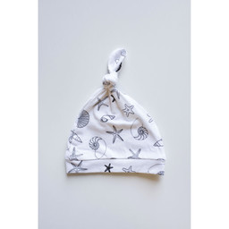 Bambi & Birdie Pajama Co. Bambi & Birdie - Knotted Newborn Hat, Shells