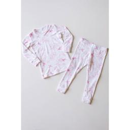 Bambi & Birdie Pajama Co. Bambi & Birdie - 2 Piece Pyjama, Pink Hummingbird