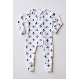 Bambi & Birdie Pajama Co. Bambi & Birdie - Pyjama à Pattes avec Glissière, Bourdon