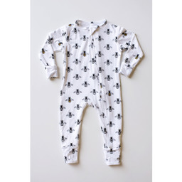 Bambi & Birdie Pajama Co. Bambi & Birdie - Zipper Sleeper, Bumble Bee