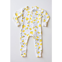 Bambi & Birdie Pajama Co. Bambi & Birdie - Pyjama à Pattes avec Glissière, Citron