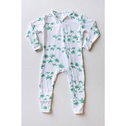 Bambi & Birdie Pajama Co. Bambi & Birdie - Pyjama à Pattes avec Glissière, Tortue de Mer