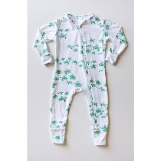 Bambi & Birdie Pajama Co. Bambi & Birdie - Zipper Sleeper, Seaturtles