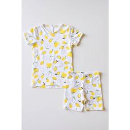 Bambi & Birdie Pajama Co. Bambi & Birdie - Pyjama Court 2 Pièces, Citron
