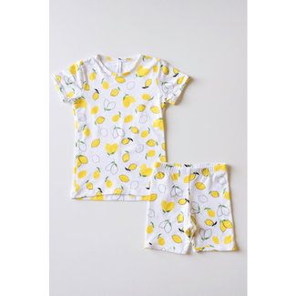Bambi & Birdie Pajama Co. Bambi & Birdie - 2 Piece Short Pyjama, Lemons