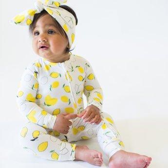Bambi & Birdie Pajama Co. Bambi & Birdie - Zipper Sleeper, Lemons