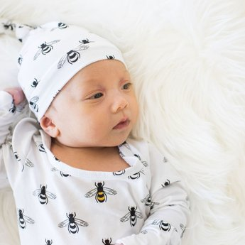 Bambi & Birdie Pajama Co. Bambi & Birdie - Baby Knotted Sleep Gown, Bumble Bee