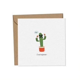 Mimosa Design Mimosa Design - Greeting Card, Papa Cactus