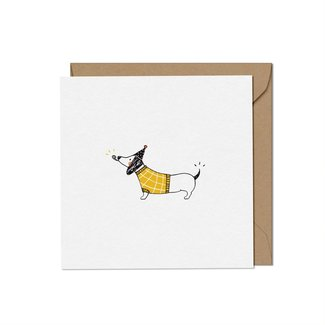 Mimosa Design Mimosa Design - Greeting Card, Sausage Dog