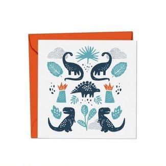 Mimosa Design Mimosa Design - Greeting Card, Dinosaurs