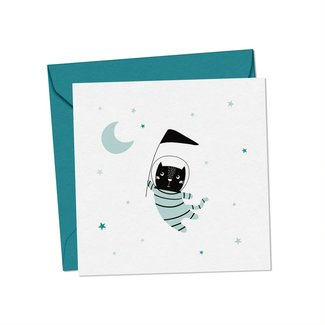 Mimosa Design Mimosa Design - Greeting Card, Space Cat, Exclusivity Charlotte et Charlie