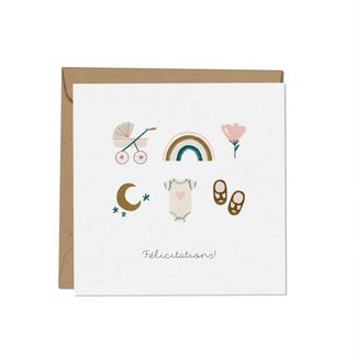 Mimosa Design Mimosa Design - Greeting Card, Congratulations Girl, Exclusivity Charlotte et Charlie