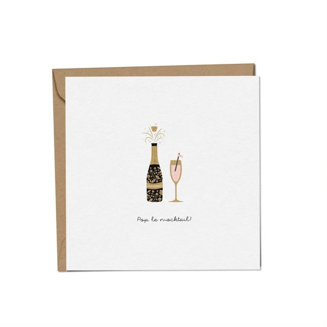 Mimosa Design Mimosa Design - Greeting Card, Pop the Mocktail, Exclusivity Charlotte et Charlie