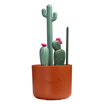 Boon Boon - Cacti Bottle Cleaning Brush Set, Brown