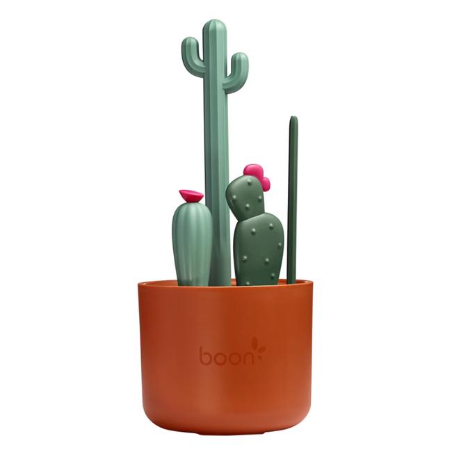 Boon Boon - Ensemble de 4 Brosses à Biberons Cacti, Brun