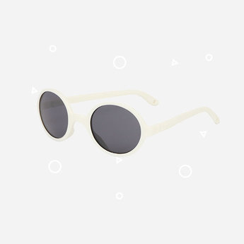 KI ET LA Ki ET LA - Rozz Sunglasses, White, 1-2 years