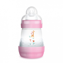MAM MAM - Anti-Colic Baby Bottle, Pink, 5 oz
