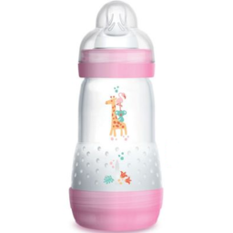 MAM MAM - Anti-Colic Baby Bottle, Pink, 9 oz