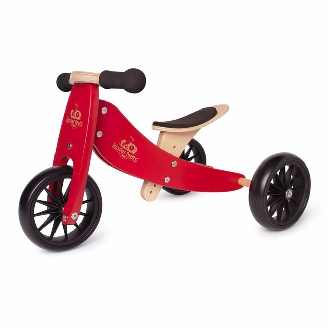 Kinderfeets Kinderfeets - Tiny Tot Balance Bike 2-in-1, Cherry Red