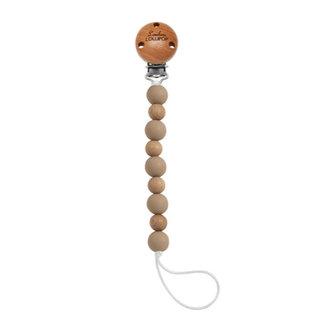Loulou Lollipop Loulou Lollipop - Celeste Pacifier Clip, Clay