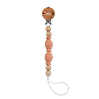 Loulou Lollipop Loulou Lollipop - Soleil Pacifier Clip, Coral
