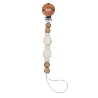 Loulou Lollipop Loulou Lollipop - Soleil Pacifier Clip, Ecru