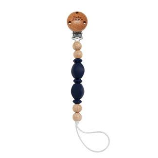 Loulou Lollipop Loulou Lollipop - Soleil Pacifier Clip, Navy
