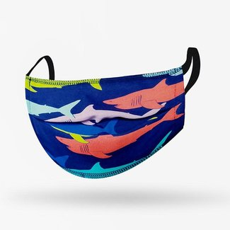 Kushies Kushies - Washable Mask for Kids, Sharks