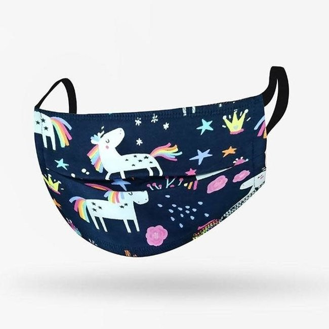 Kushies Kushies - Washable Mask for Kids, Unicorns