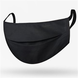 Kushies Kushies - Masque de Protection en Tissu pour Adulte, Noir
