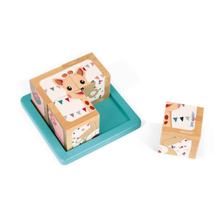 Janod Janod - 4 Cubes, Sophie la Girafe