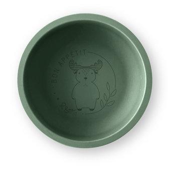 Pois et Moi Pois et Moi - Assiette en Silicone, Olive et Orignal