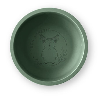 Pois et Moi Pois et Moi - Silicone Plate, Olive and Moose